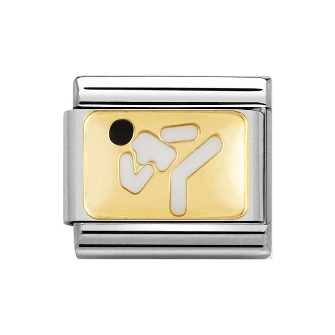 A gold karate Nomination charm